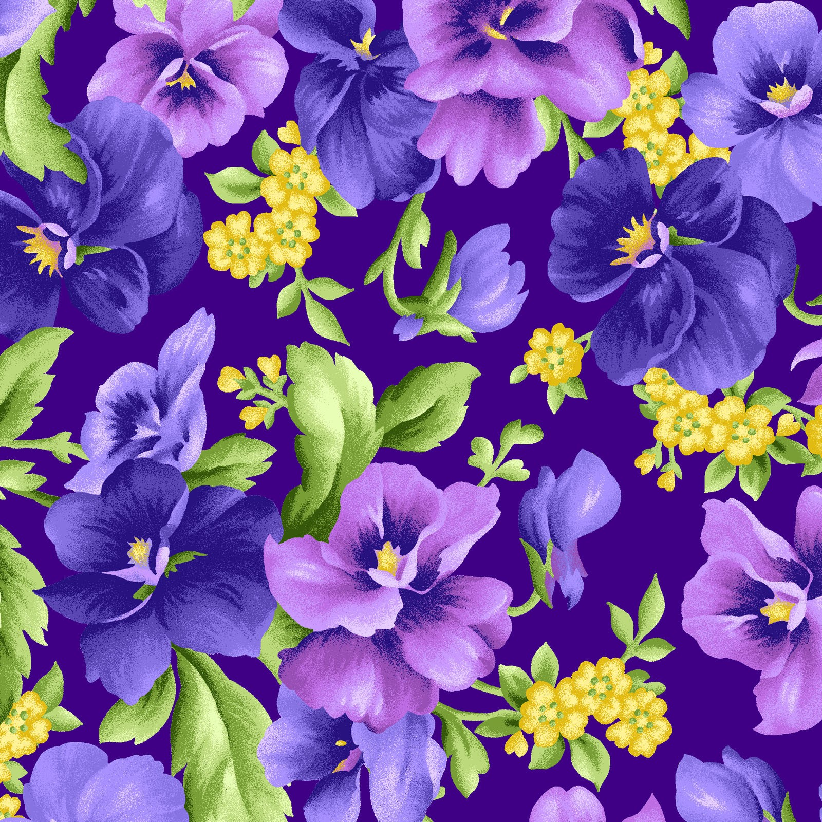 Emma's Garden~Pansies on Purple